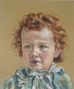 Portrait Painting - Portrait Of Young Audra by Cindy Pharis