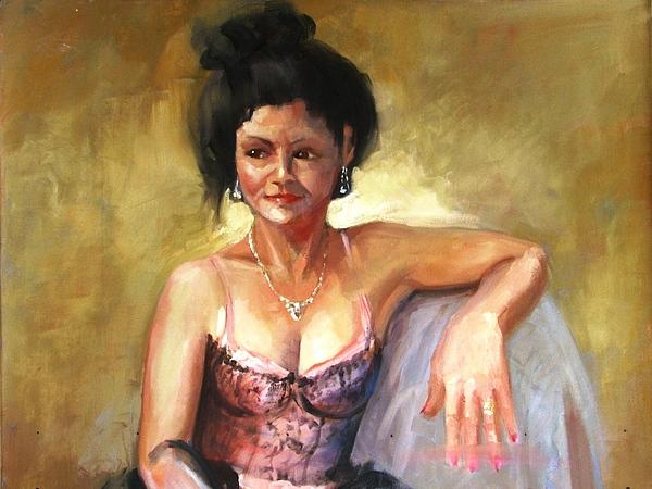 Portraits Painting - Portrait Sample by Podi Lawrence