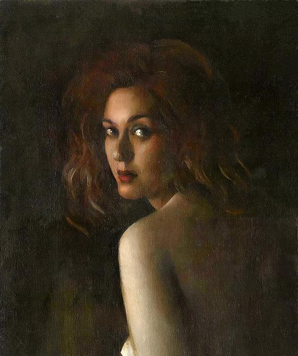 Portrait Painting - Portrait With Bare Shoulder by Matthew Kinsey