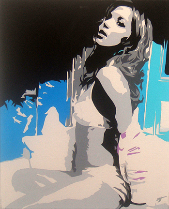 Poser Color Painting by Michael James  Toomy