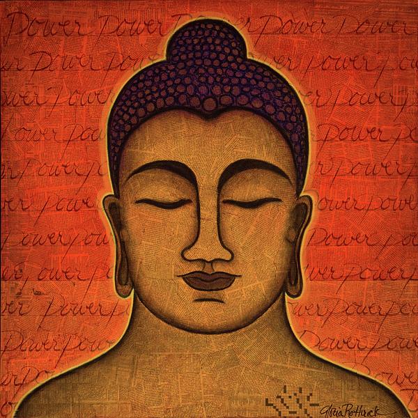 Buddha Painting - Power by Gloria Rothrock
