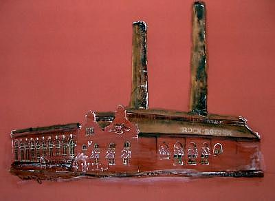Cleveland Flats Painting - Powerhouse by Paul Jira