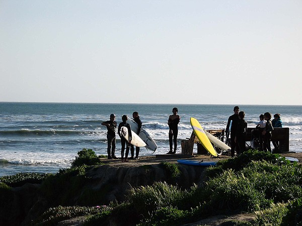 Landscape Photograph - pr 129 - Santa Cruz Surfers by Chris Berry