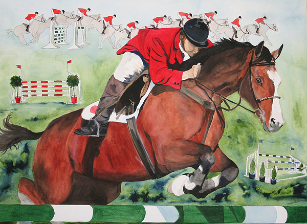 Horse Painting - Practice Makes Perfect by Jean Blackmer