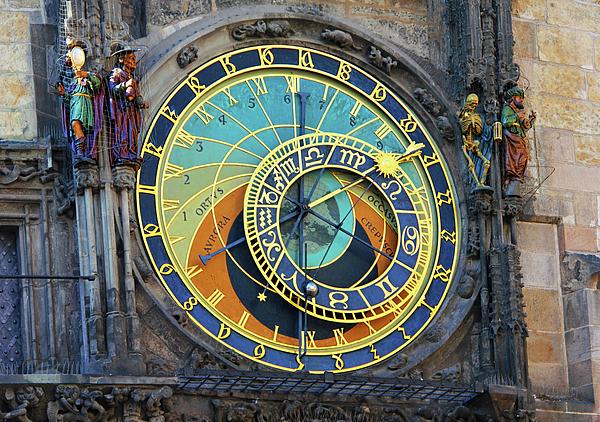 Prague Photograph - Prague Astronomical Clock by Mariola Bitner