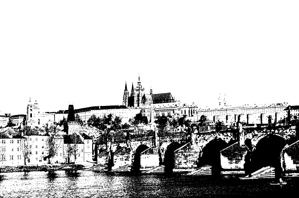 Prague Castle Digital Art - Prague Castle And Charles Bridge by Michal Boubin