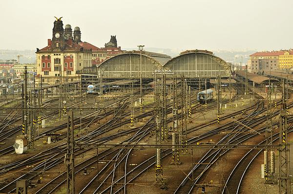 Prague Photograph - Prague Railroad Station by Marek Stepan