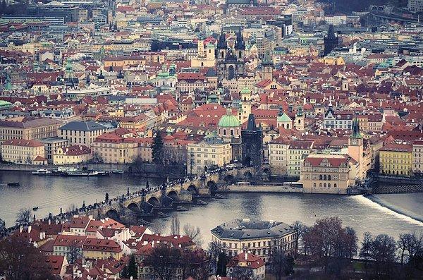 Horizontal Photograph - Prague Skyline by Piero Damiani
