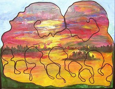 Prairie Health Painting by Naomi Gerrard