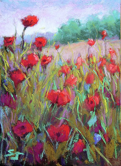 Poppies Painting - Praising Poppies by Susan Jenkins