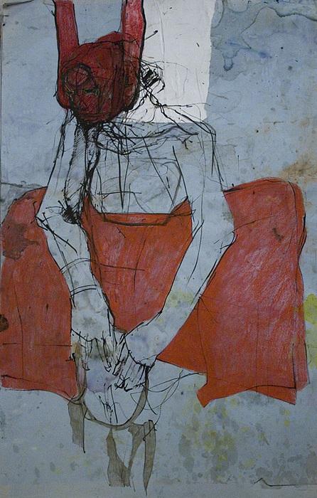 Prayer Dance - Silent Drawing by Viktorija Kulesova