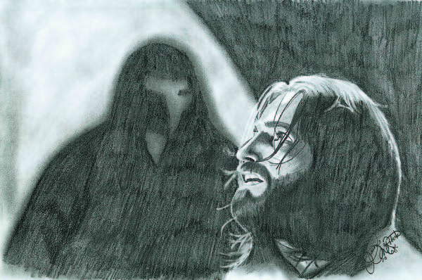 Portrait Drawing - Prayer by Jason McRoberts