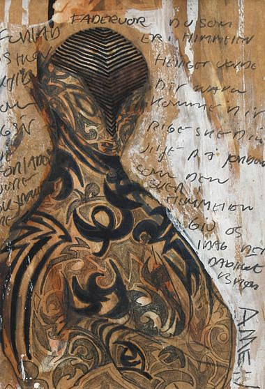 Figure Drawing - Prayer by Uffe Weinreich Becker