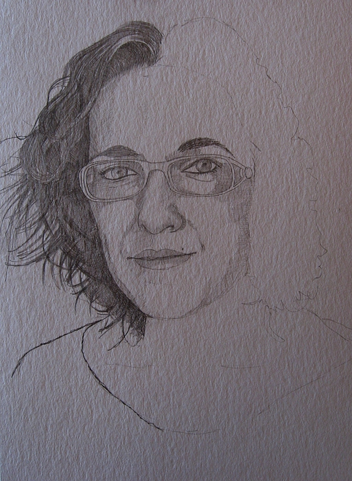 Pencil Painting - Pre Sketch For Clare Pencil by Ray Agius