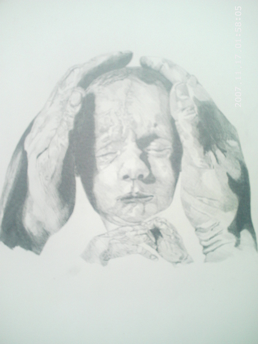 Baby Drawing - Precious Baby by Peter Fredericks