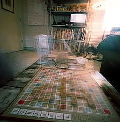 Pinhole Photograph - Preheating  Scrabble Series by Sheila Bocchine