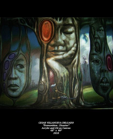 Cesar Painting - Premonition Disaster by Cesar Delgado