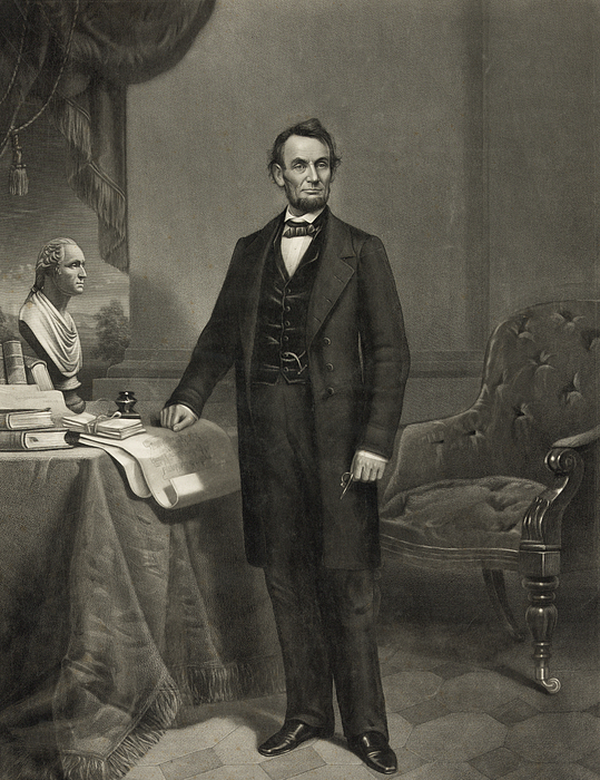 Abraham Lincoln Photograph - President Abraham Lincoln by International  Images