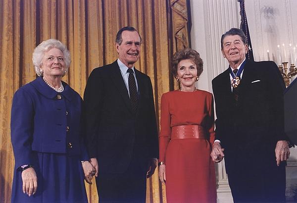 History Photograph - President George Bush Presents by Everett