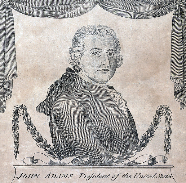 1790s Photograph - President John Adams, Engraving By Amos by Everett