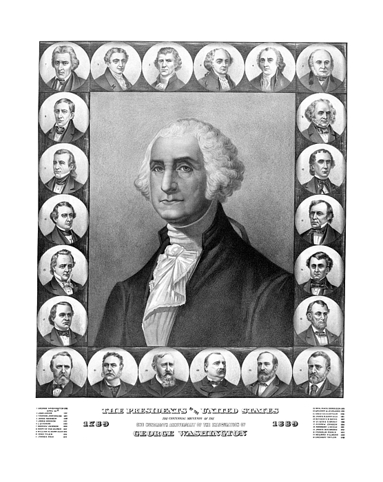 Presidents Mixed Media - Presidents Of The United States 1789-1889 by War Is Hell Store