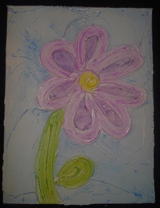 Daisy Painting - Pretty Lil Daisy by Amanda Heavlow