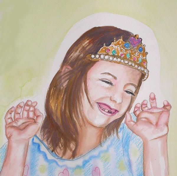 Princess Painting - Pretty Princess by Anne Cameron Cutri