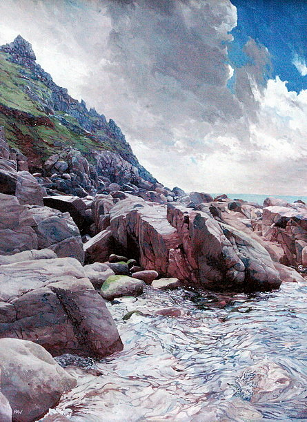 Seascape Painting - Priests Cove by Paul Williams