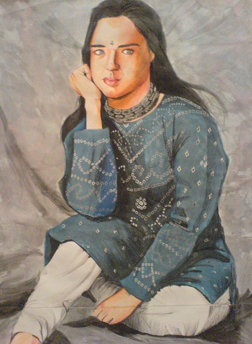 Tom Cruise Painting - Priety Zinta by Sandeep Kumar Sahota