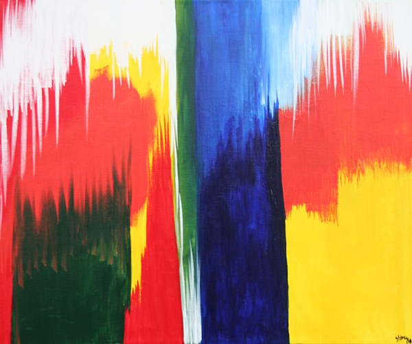 primary colors painting by shiree gilmore