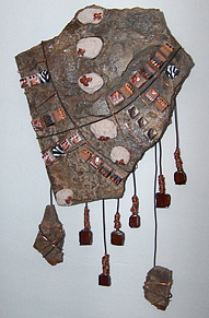 Mosaic Wall Hanging Mixed Media - Primitive by Wendy Nelson