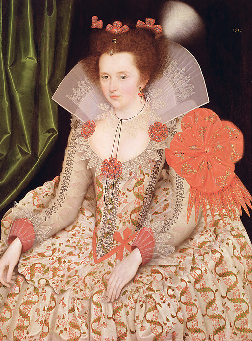 Princess Painting - Princess Elizabeth The Daughter Of King James I by Marcus Gheeraerts