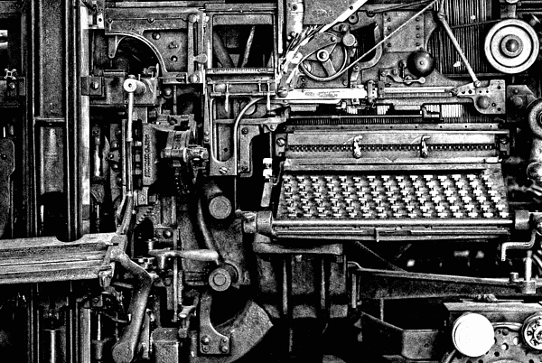 Printing Press Photograph - Printing Press by Kenneth Mucke