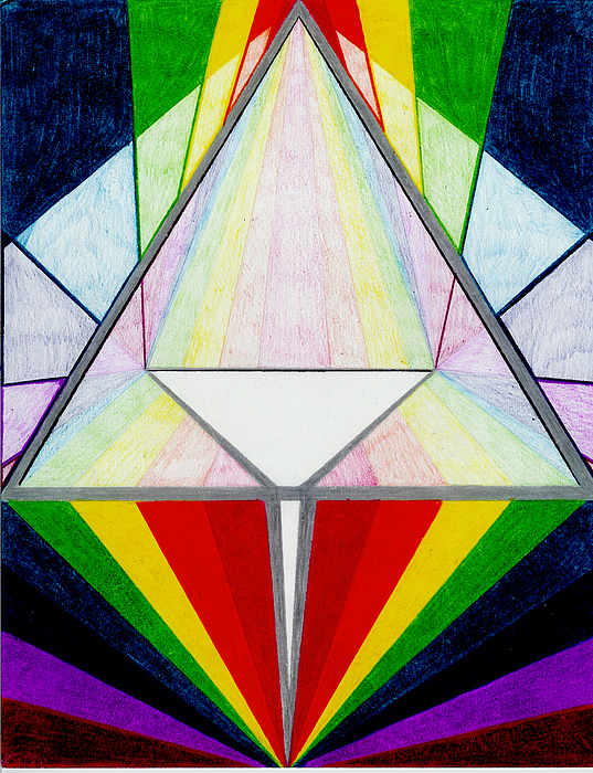 Colors Drawing - Prisim by Aileen Heymach
