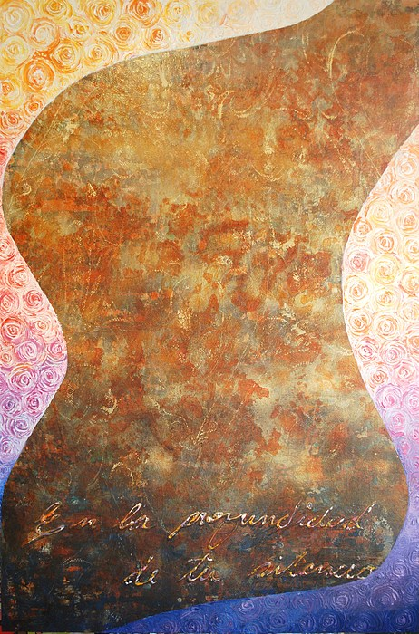 Palette Knife Painting - Profundidad by Vivian Gutierrez