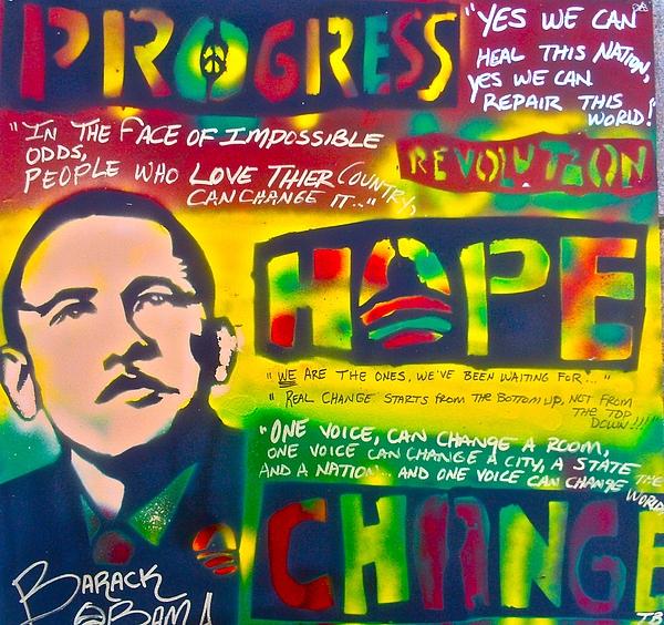 Barack Obama Painting - Progress by Tony B Conscious