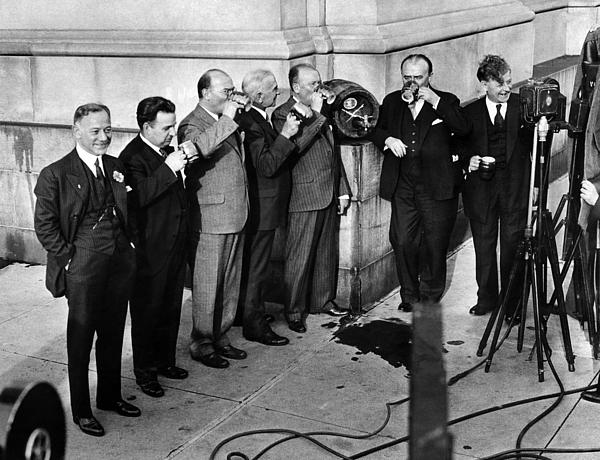 1930s Photograph - Prohibition Wet Congressmen Drinking by Everett