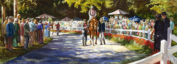 Watercolor Painting - Promenade by Carolyn Epperly