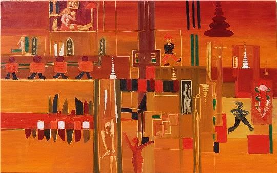 Civilisation Painting - Promenade Spirituelle by Artist Painter