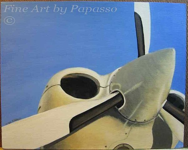 Airplane Painting - Prop Ccrop by Kathie Papasso