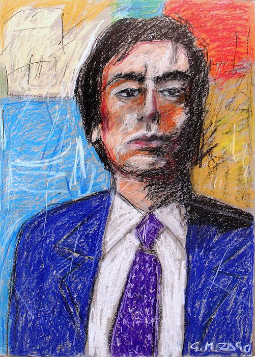 Prototype Of The Art Television Presenter Painting by Gianantonio Zago Marino