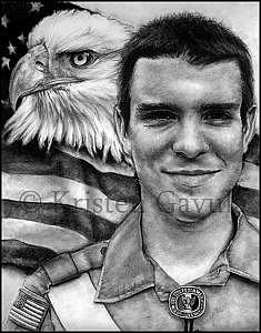 Eagle Scout Drawing - Proud Eagle Scout by Kristen Gavula