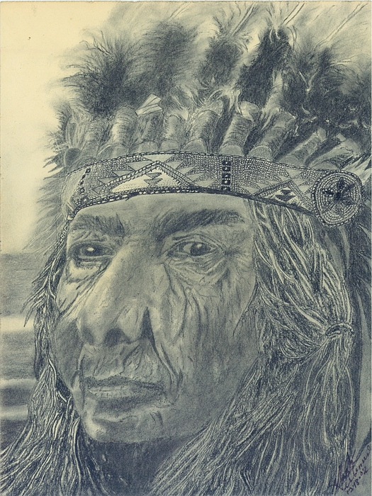 Indian Nation Mixed Media - Proud Of The Past by Mark Villemure