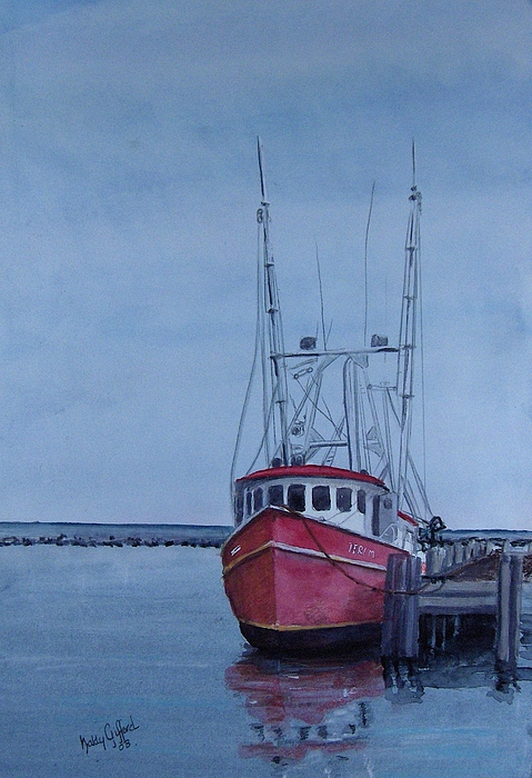 Fishing Trawler Painting - Provincetown Portuguese by Haldy Gifford