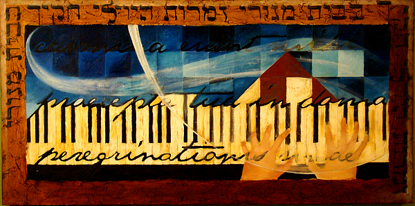 Piano Keyboard Painting - Psalm 119 by Michael Carter