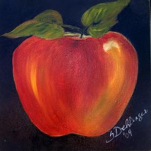 Psychedelic Apple Painting by Susan Dehlinger