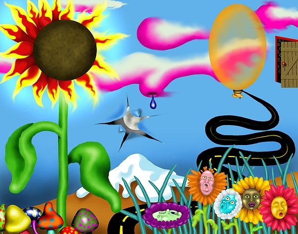 Surrealism Digital Art - Psychedelic Dreamscape I by Robert Morin