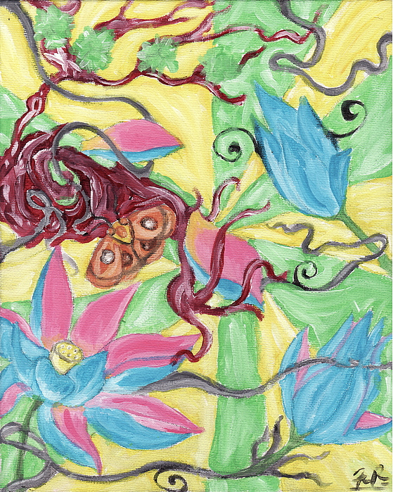 Jungle Painting - Psychedelic Jungle  by Frank Porco