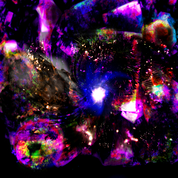 Psychedelic Rainbow Nebula Galaxy Universe Rainbow Colorful Colourful Stars Constellations Digital Art - Psychedelic Rainbow Nebula Galaxy Universe by Abram Lopez