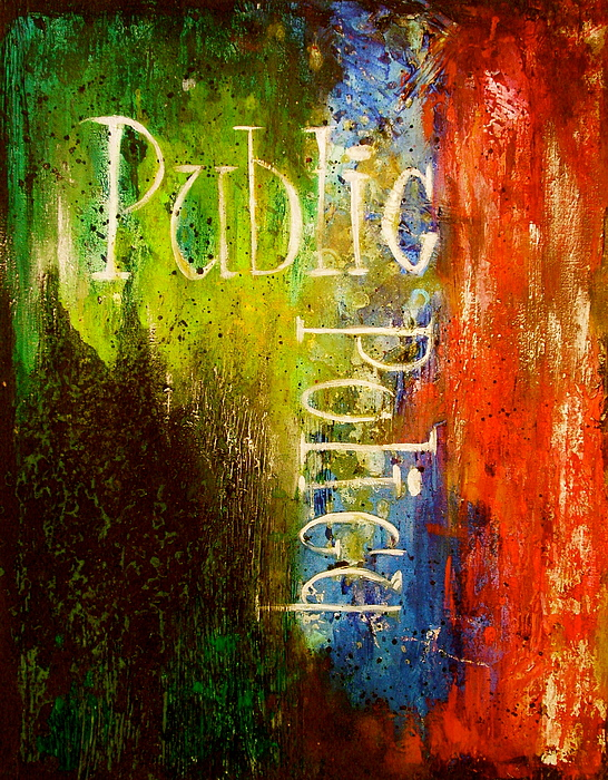 Law Review Painting - Public Policy by Laura Pierre-Louis